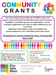 community grants march 2020